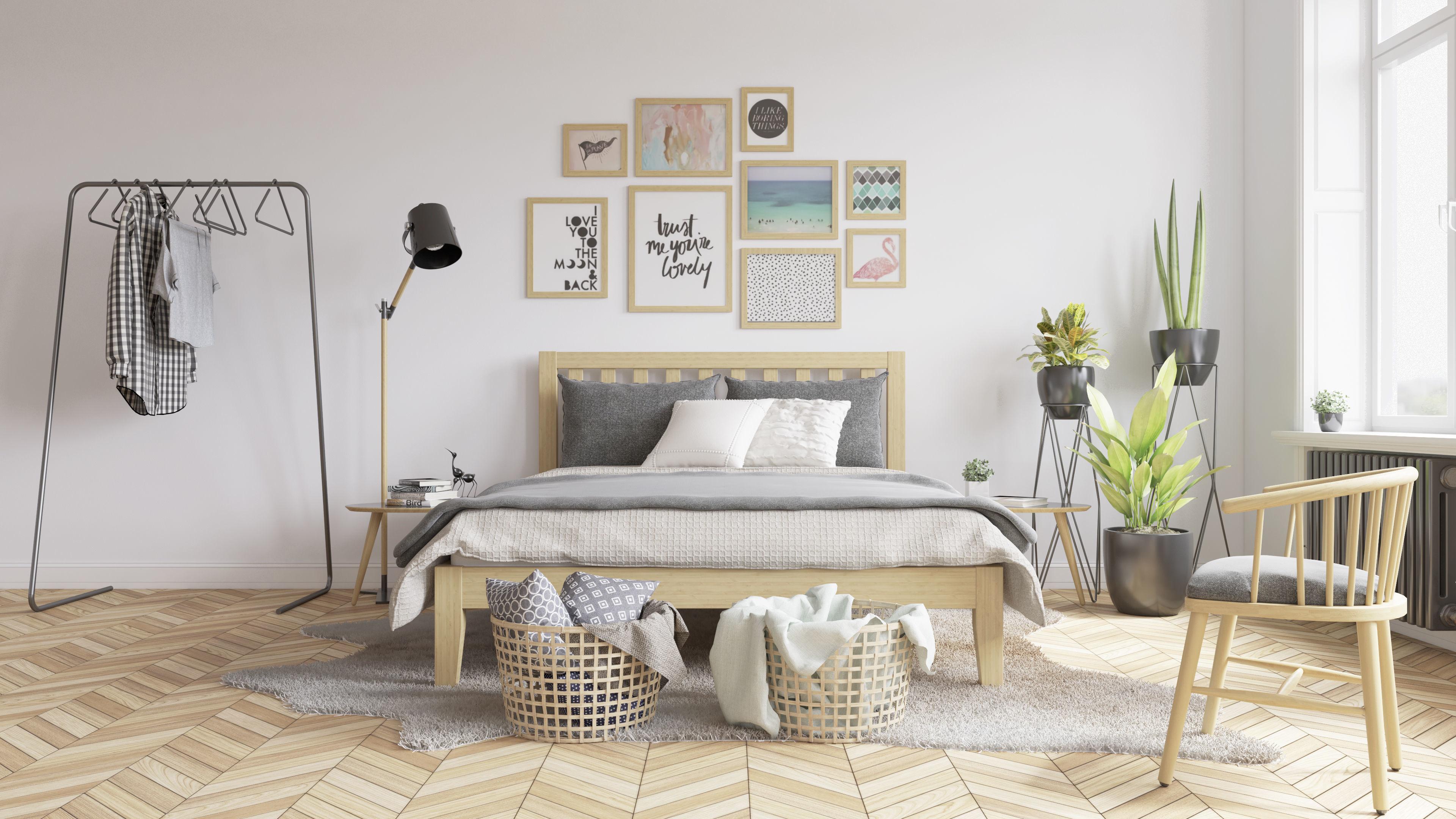 Scandinavian Bedroom 3D Model Vray Settings and PSD File