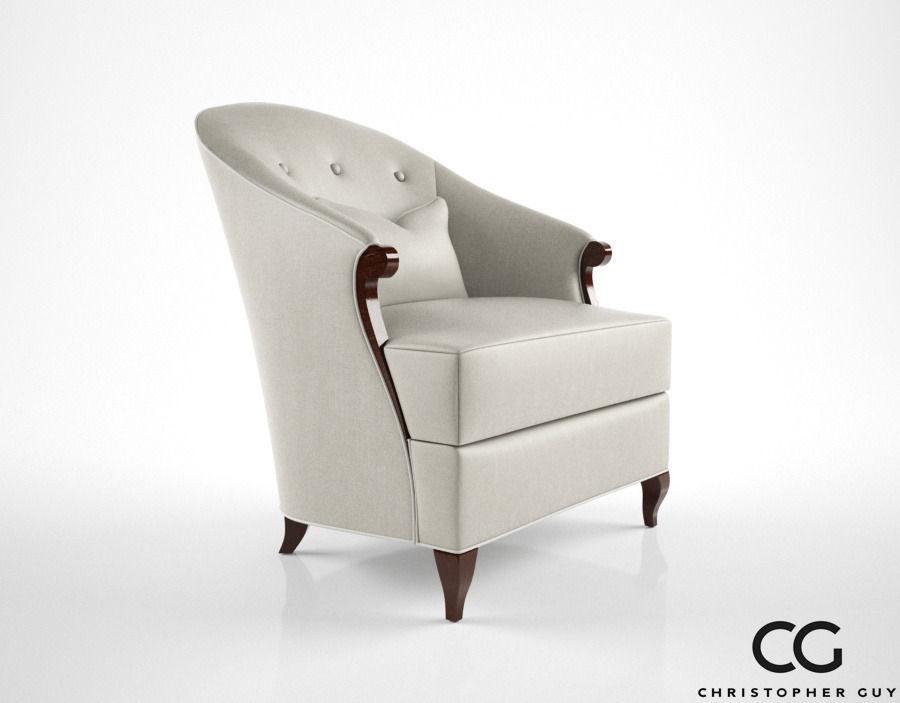 ... Christopher Guy Morzine Armchair 3d Model Max Obj Fbx Mtl 3 ...