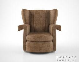 lorenzo tondelli ava armchair 3d model