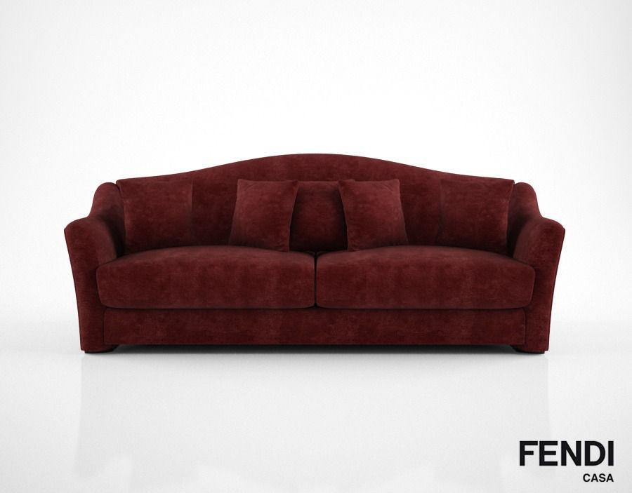 Fendi Casa Faubourg Sofa 3d Model Max Obj Fbx Mtl 1 ...
