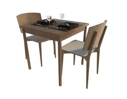 3D model table and chairs sketchup