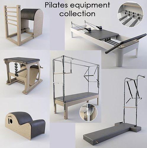 pilates equipment collection 3d model max obj mtl fbx 1