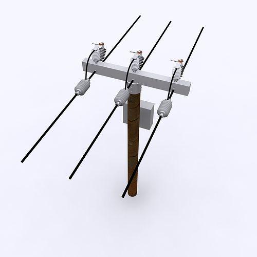 electrical post max 2010 3d model max obj 3ds fbx c4d ma mb 1
