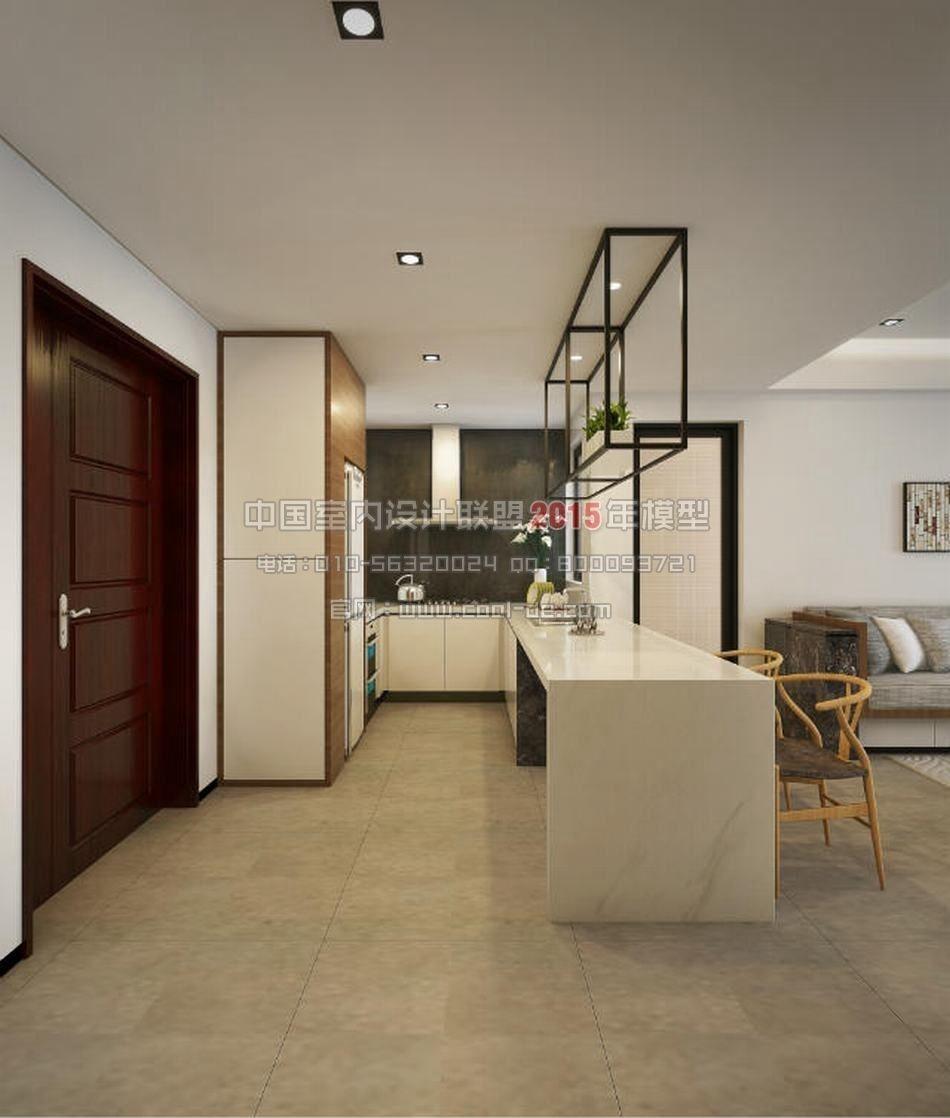 Luxury minimalist interior design living r 3d model - Minimalist interior design living room ...