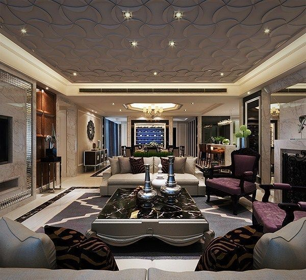 Minimalism 34 Great Living Room Designs: Luxury Minimalist Interior Design Living R... 3D Model