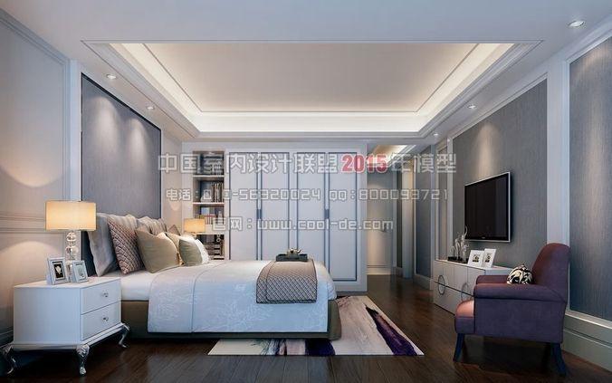 Luxury minimalist interior design living r 3d model max for Luxury minimalist bedroom
