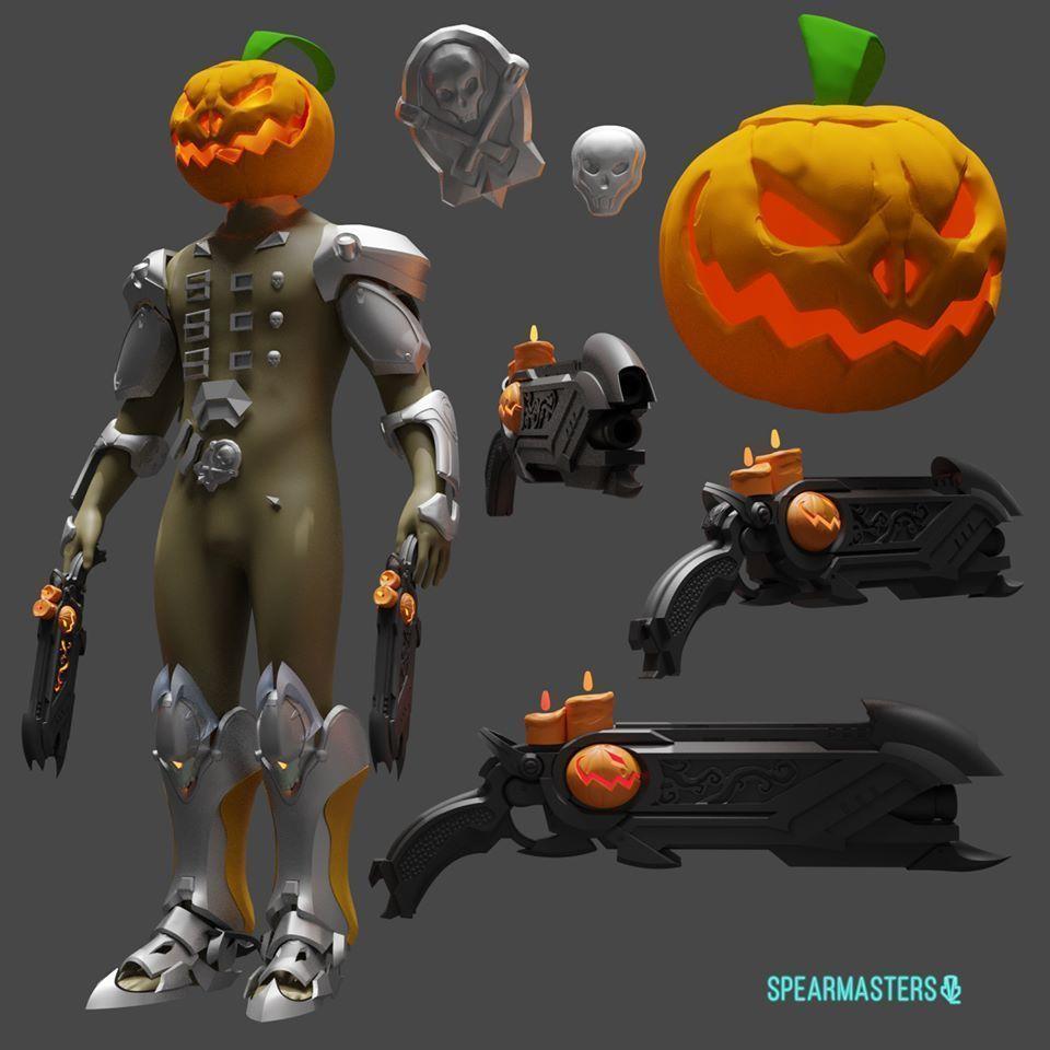 Overwatch Reaper pumpkin armor cosplay