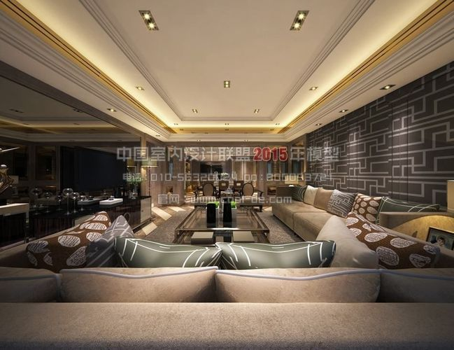 luxury minimalist interior design living r 3d model tga cgtrader