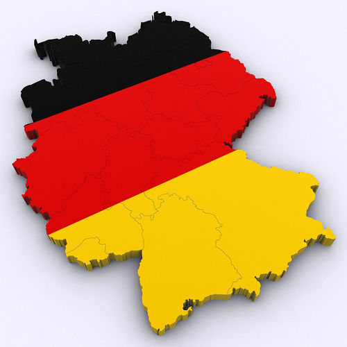 Map Of Germany 3d Model Max Obj 3ds Cgtrader Com