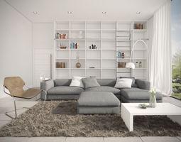 modern livign room 3D