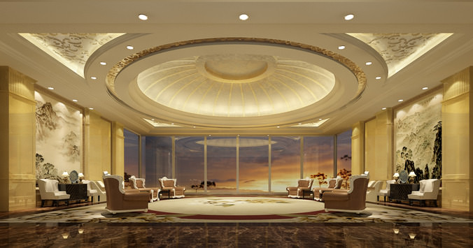 Luxury Conference Room 3d Model Max Cgtrader Com