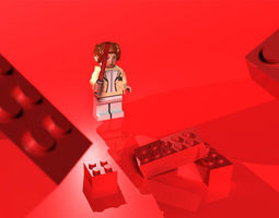 game-ready lego star wars 3d asset