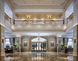 lobby hall 3d model