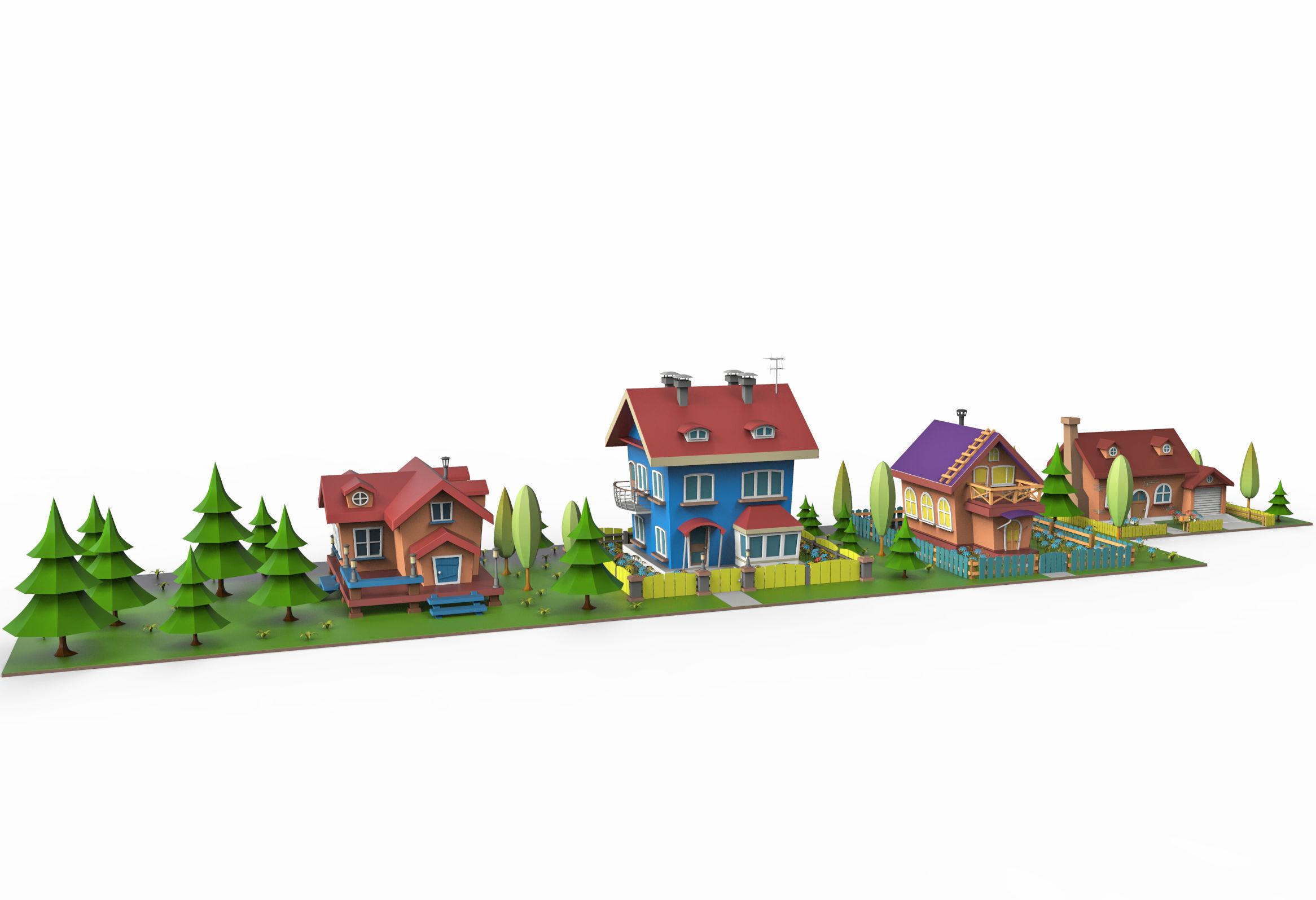 Cartoon village v2