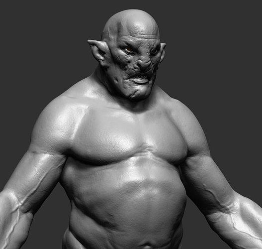Creature 3d Model Obj Ztl