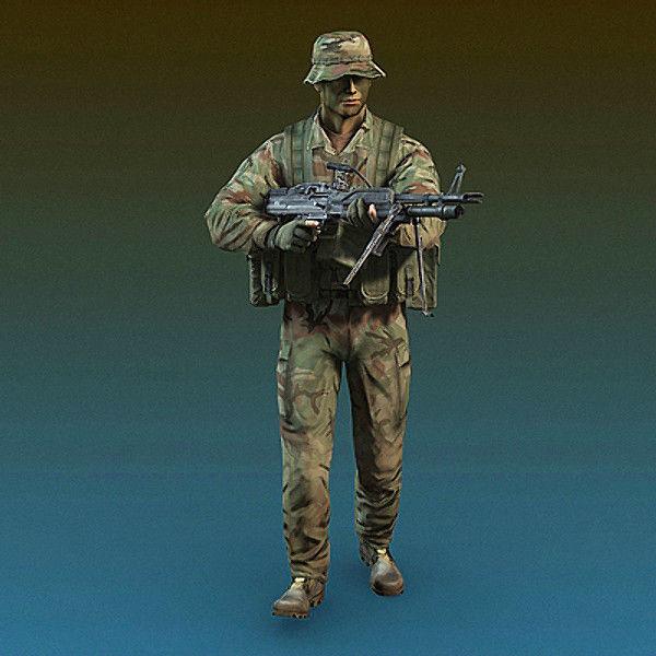US Navy SEAL Jungle version with MK-43 machine gun