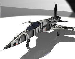F-5E Tiger II Aircraft 3D Model