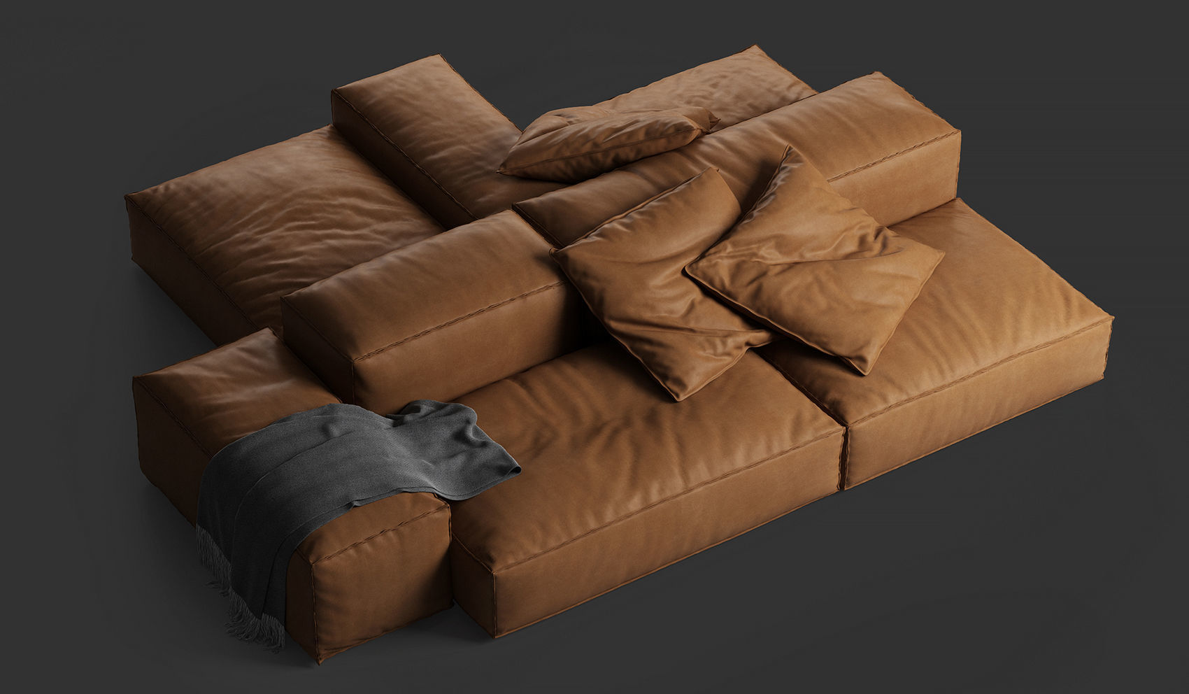 Living Divani Extra Soft.3d Model Leather Extrasoft Sofa By Living Divani Cgtrader