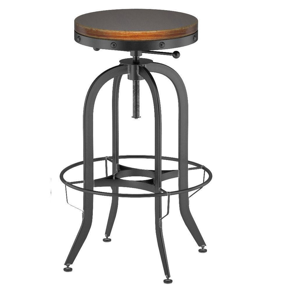 industrial vintage bar stool black 3d model max obj fbx. Black Bedroom Furniture Sets. Home Design Ideas