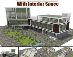 3D model animated Hospital Building