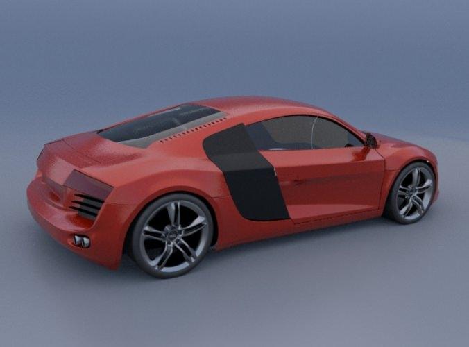 Audi R8 Sports Car 3D Model .obj .3ds .fbx .lwo .lw .lws .blend - CGTrader.com