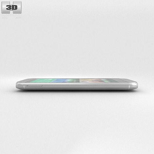 HTC One Mini 2 Glacial Silver 3D Model MAX OBJ 3DS FBX C4D ...