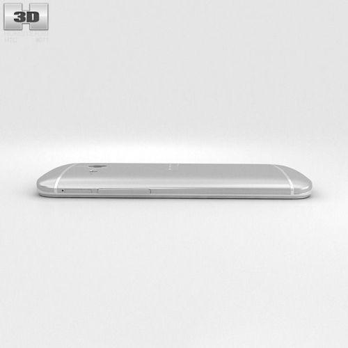 HTC One Mini 2 Glacial Silver 3D Model .max .obj .3ds .fbx ...