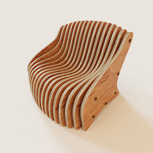 3d model parametric armchair cgtrader for Chair design 3ds max