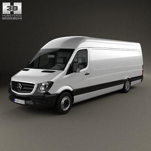mercedes-benz sprinter panel van elwb hr 2013 3d model max obj mtl 3ds fbx c4d lwo lw lws 1