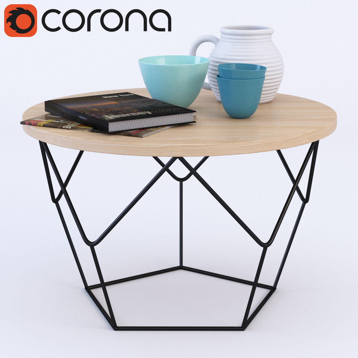 west elm origami coffee table 3d model max obj fbx mtl 1 ... - West Elm Origami Coffee Table 3D Model MAX OBJ FBX MTL