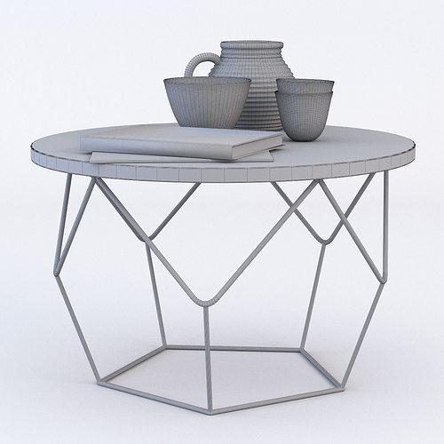 ... west elm origami coffee table 3d model max obj fbx mtl 4 ... - West Elm Origami Coffee Table 3D Model MAX OBJ FBX MTL