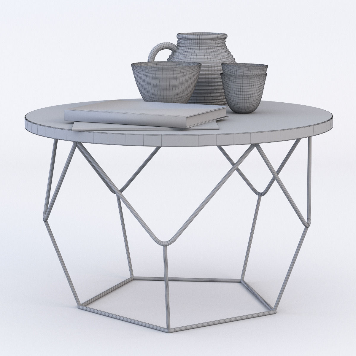 ... West Elm Origami Coffee Table 3d Model Max Obj Fbx Mtl 4 ...