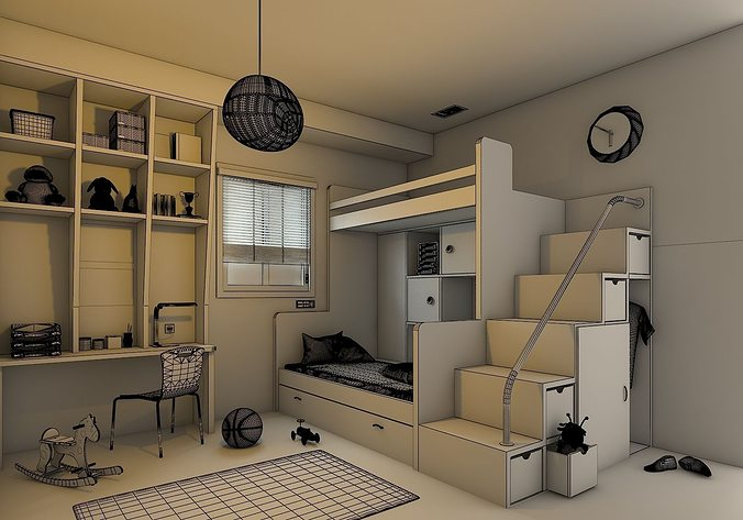 Kids Bedroom 3d Model kids bedroom 3d | cgtrader