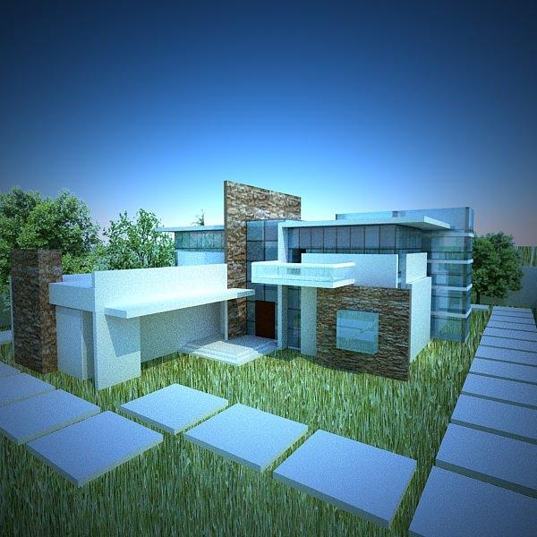 modern house 3D Model .max .obj .3ds .fbx .c4d .lwo .lw ...