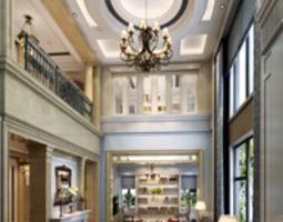 White Lobby Hall 3D model
