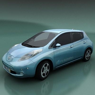 Nissan Leaf stand3D model