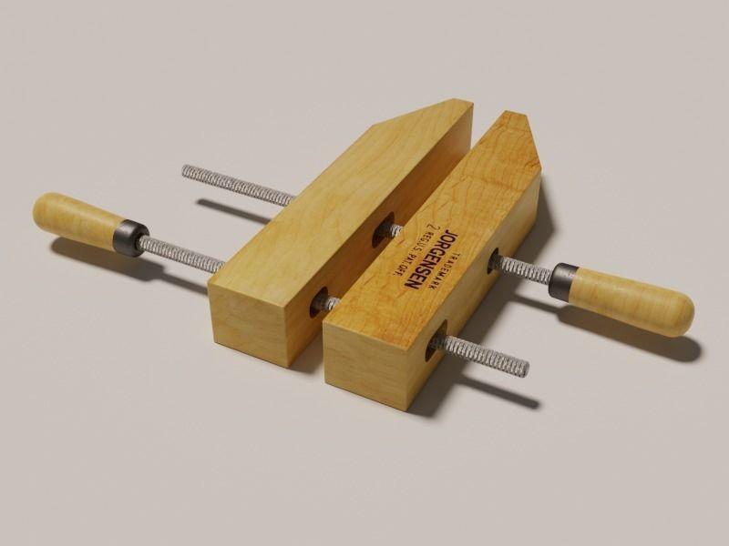 Wooden handscrew clamp