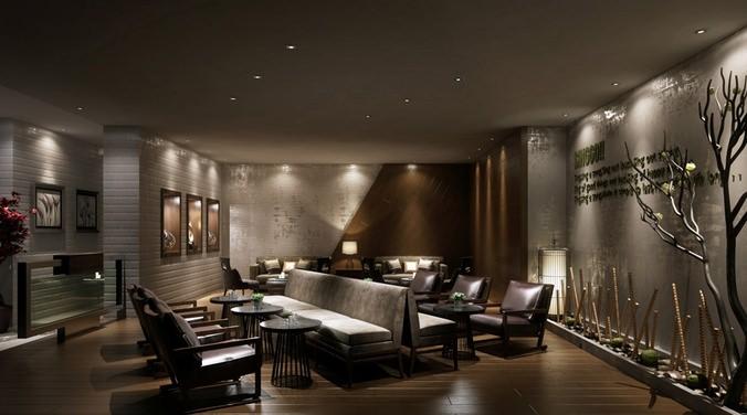 Brownish Lounge 3D model3D model