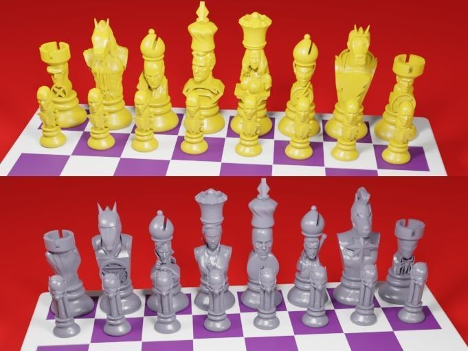 CHESS Board AVENGERS VS JUSTICE LEAGUE