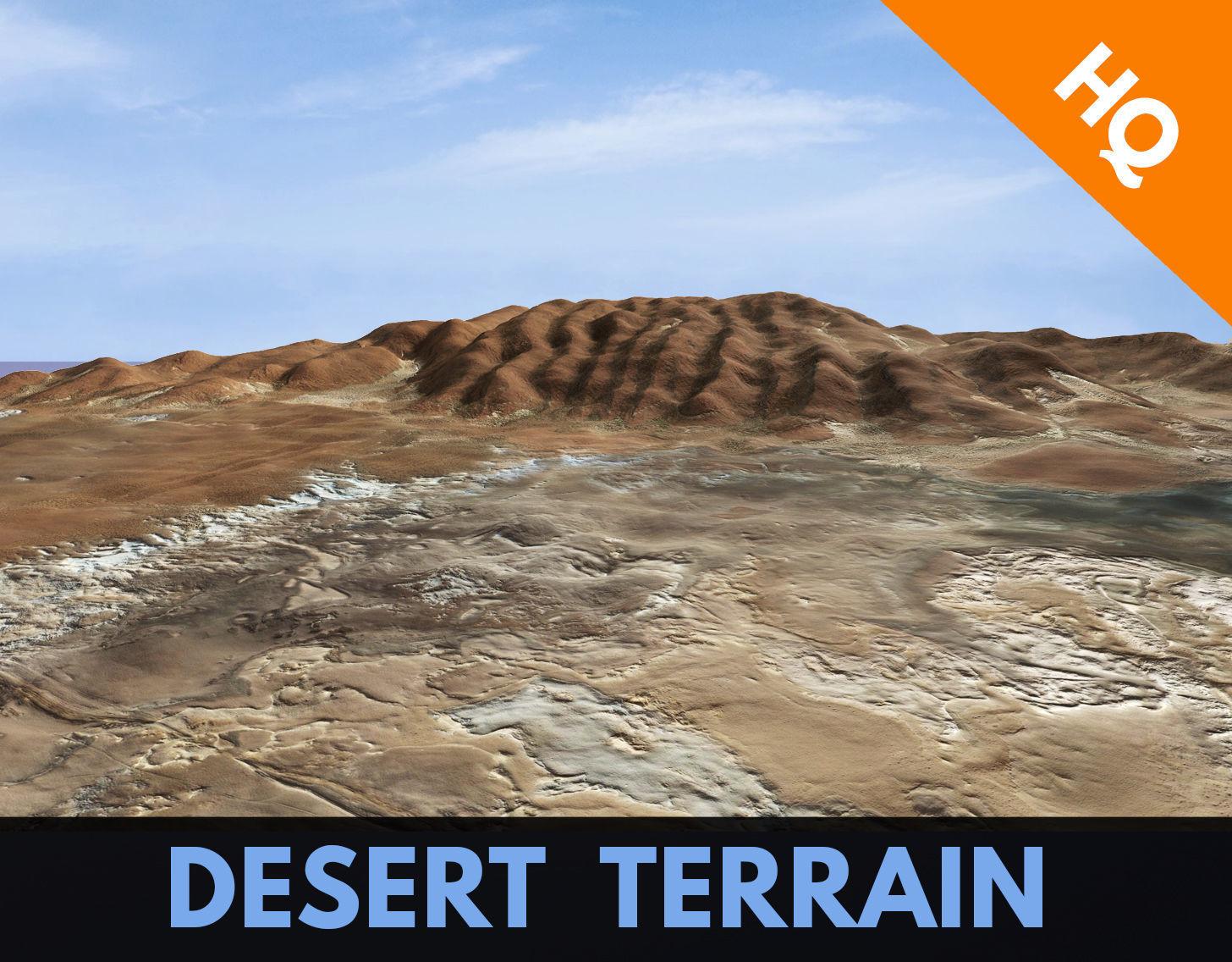 Desert Hills Surface Terrain Landscape Environment PBR 34