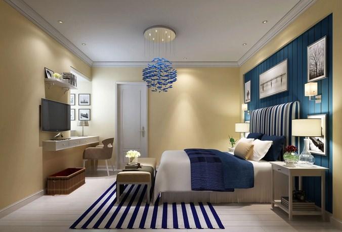 Calm Bed Room 3D model3D model