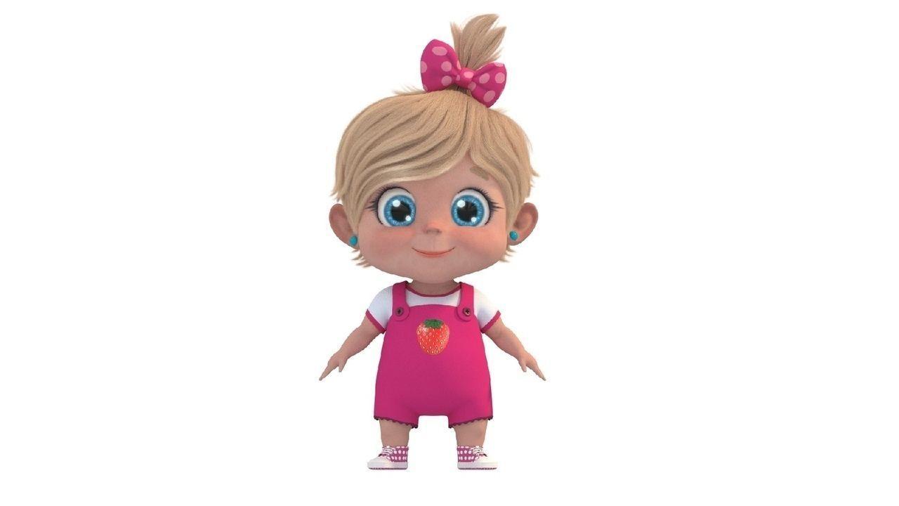 Role Cartoon Cute Baby Girl 3d Model Cgtrader