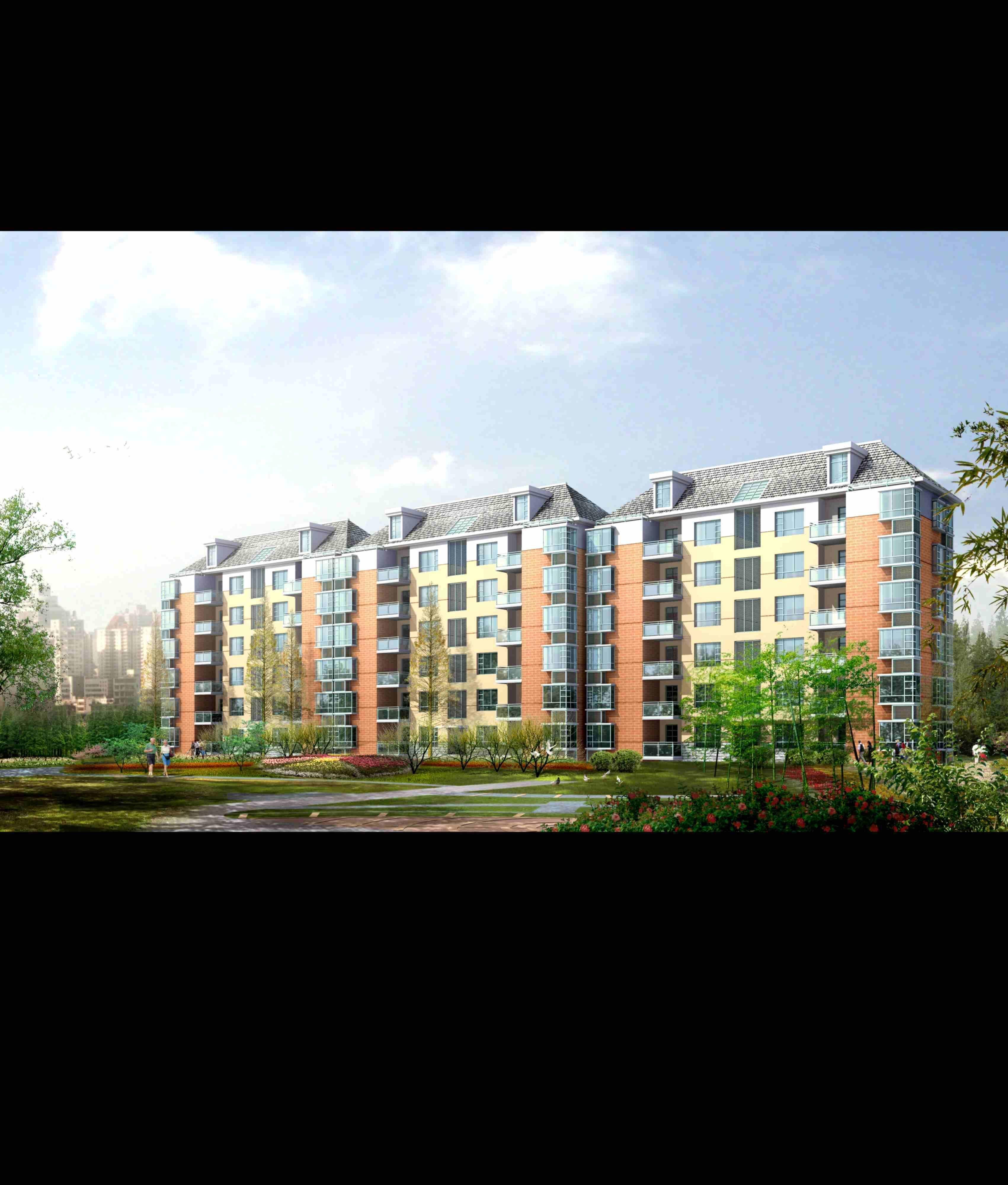 City Residential Garden Villa Office Build 3d Model