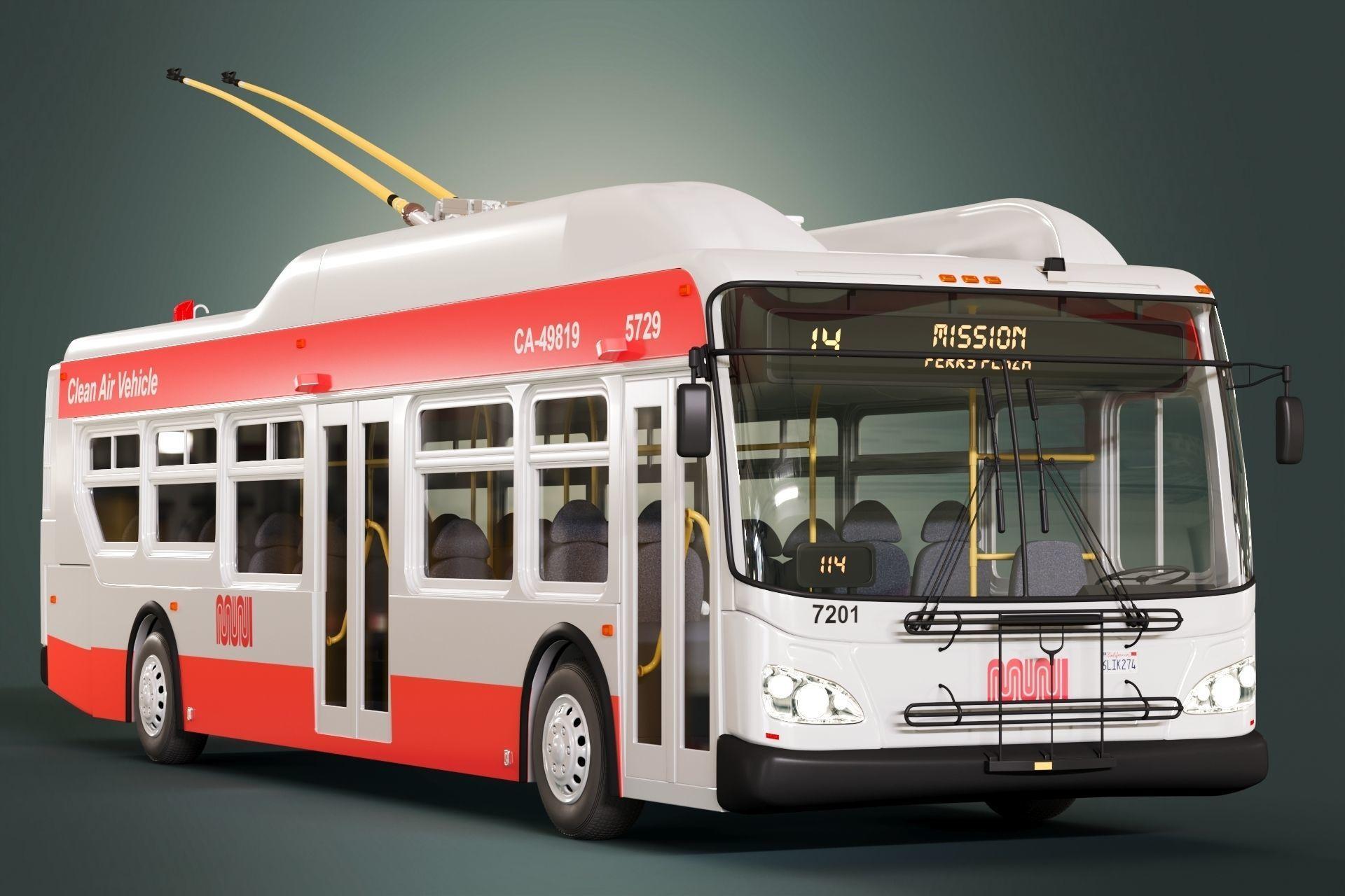 San Francisco Trolleybus Short SFMTA