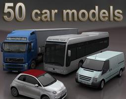 cars mega pack 50 items 3D Models 3D Model