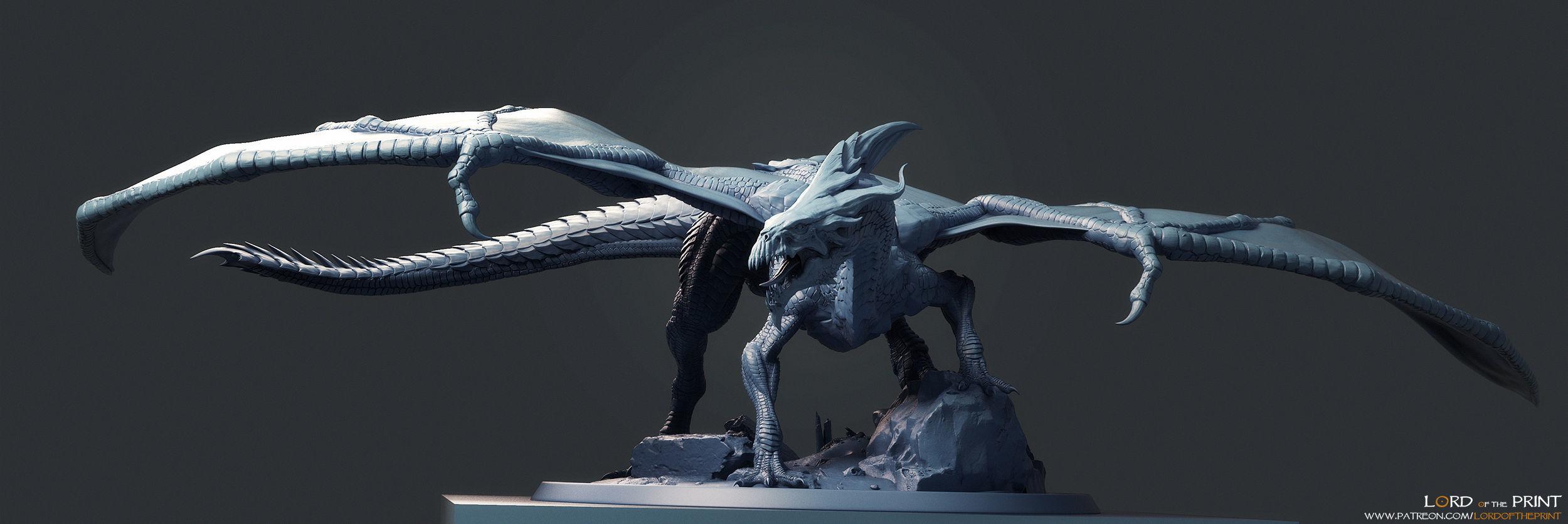 Adult White Dragon