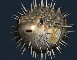 3DRT - Sealife -  Puffer fish 3D Model