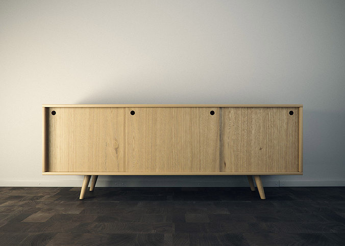 sideboard 3d model obj mtl 3ds fbx c4d 1