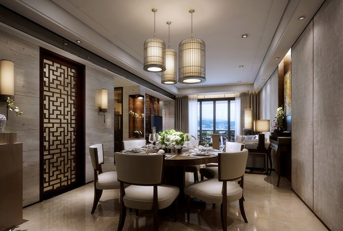 3d Model Luxurious,dining,room,interior,architectural,other