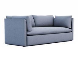 west elm shelter sofa 3d